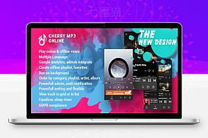 【Cherryv1.0】安卓音频播放器+在线播放音乐+带后台