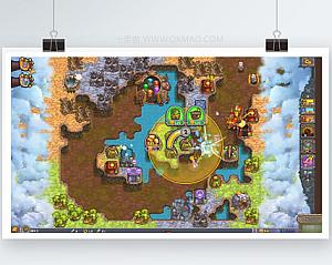 【被诅咒的宝藏2】卡通策略塔防类游戏+24个关卡+夜间模式+三种强大的怪兽塔型