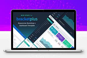 Bracket Plus – 响应式Bootstrap 4管理仪表板模板 – 1.4